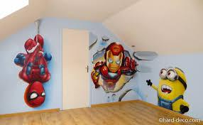 fresque chambre enfant chambres de garçons décoration graffiti deco