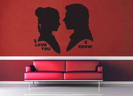love you know silhouette set star wars wall decal love you know silhouette set star wars wall decal