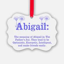 abigail meaning ornament cafepress