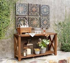printed wood tiles wall set pottery barn