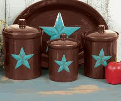 western kitchen canisters turquoise canister set 3 pcs western southwestern style