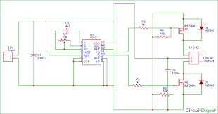 wiring diagram simple inverter circuit diagram 12v to 220v 40