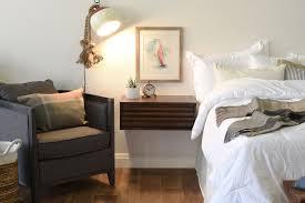 White Floating Nightstand Pair Of Floating Nightstand Drawers Lotus Russet Brown Woodwaves
