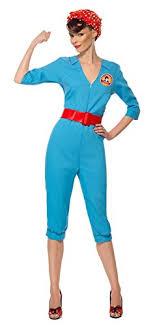 blue jumpsuit costume amazon com smiffy s s 1940 s factory costume clothing