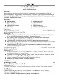 early childhood resume sample sample resume for team leader in bpo free resume example and resume
