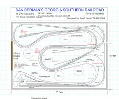 24x36 Garage Plans by The Georgia Southern Railroad In Ho Scale The Track Plan