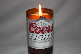 coors light gift ideas beer bottle candle from upcycled coors light beer bottle