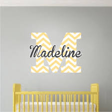 Monogram Wall Decals For Nursery Monogram Wall Decal Initial Stickers Nursery And Custom