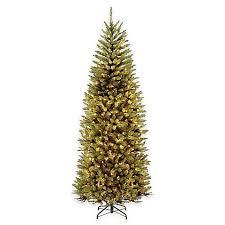 slim christmas tree with led colored lights national tree 7 5 foot kingswood fir pre lit hinged slim christmas