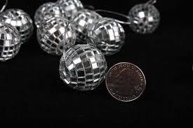miniature silver disco ornaments ornaments