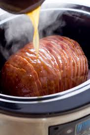 crock pot turkey recipes for thanksgiving slow cooker ham with honey mustard glaze honey mustard glaze