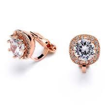 clip on bridal earrings bridal earrings clip gold