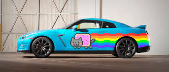 nissan gtr wrapped will deadmau5 replace his purrari with this nissan nyan cat gt r