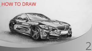 how to draw a car bmw m4 youtube