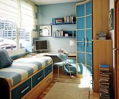 bedroom plaid blue armoire bookshelf plastic chair storage