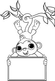 zoo free sock monkey coloring page wecoloringpage