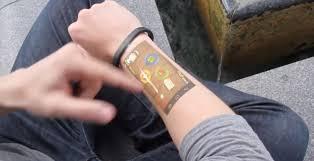 cicret bracelet images Cicret puts android on your skin slashgear png