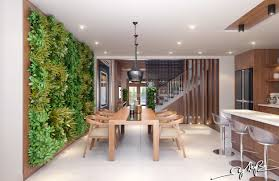 garden wall interior design ideas a massive vertical in the dining
