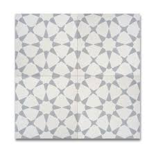 the playful geometric pattern of these moroccan tiles works well