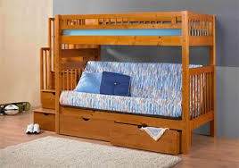 Stairway Futon Bunk Bed Bedroom Innovations Furniture - Futon bunk bed with mattresses