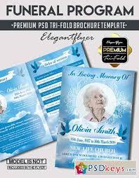 funeral program u2013 premium bi fold psd brochure template free