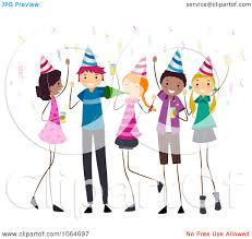 teen party clipart
