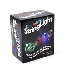 10 mini light string disco balls string lights 10 mini light up glass mirror balls