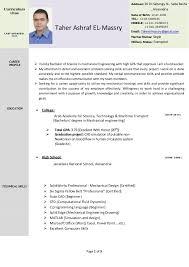 mechanical resume mechanical engineer resume