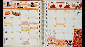 thanksgiving plan with me november 2016 monthly view ft planner