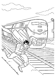 superman coloring pages print super heroes coloring pages