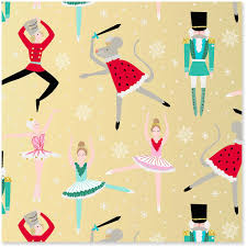 metallic christmas wrapping paper nutcracker ballet metallic ink jumbo christmas wrapping paper roll