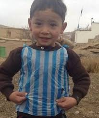 Lionel Messi Halloween Costume Afghan Boy Barcelona Star Lionel Messi U0027s Shirt Blue