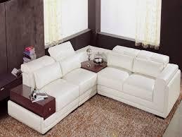 canap en cuir canape cuir blanc angle