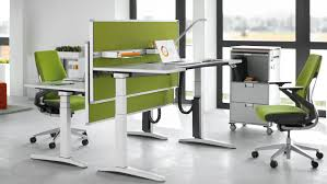 Steelcase Office Desk Ology Ergonomic Adjustable Office Desk Steelcase