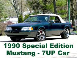 7 up edition mustang 1990 ford mustang limited edition 7up convertible original owner