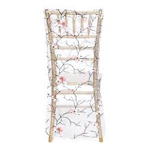 cherry blossom branches organza chiavari chair cover for weddings