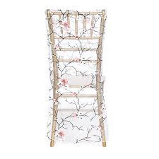 cherry blossom branches organza chiavari chair cover for weddings