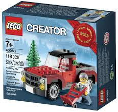 lego christmas tree truck 40083 december 2013 modular brick