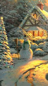 107 best kinkade winter images on