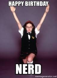 Nerd Birthday Meme - happy birthday nerd superstar chick meme generator