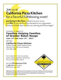 Does California Pizza Kitchen Take Reservations by Fundraising At California Pizza Kitchen U2013 June 12 U0026 13