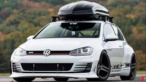 volkswagen golf custom volkswagen gold mk7 gti rs u0027rocket bunny u0027 wide body modified