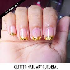 diy glitter nail art tutorial theindianspot