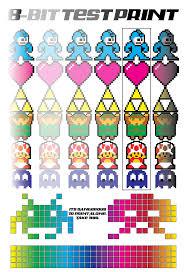 8 Bit Test Print By Pmjohnst On Deviantart Color Test Print Pdf