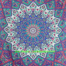 Bedroom Tapestry Wall Hangings Twin Mandala Bedding Bed Cover Psychedelic Dorm Tapestry Wall Hanging