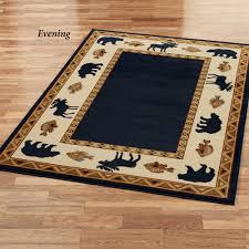 Black And Beige Area Rugs Cabin Retreat Rug