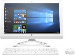 bureau windows hp 22 b027nf pc de bureau tout en un 22 hd blanc intel