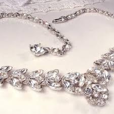 silver rhinestone necklace images Best bogoff rhinestone necklace vintage products on wanelo jpg