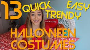 easy u0026 trendy diy last minute halloween costumes youtube
