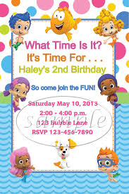 bubble guppies birthday party invitations by kiddiecreations1